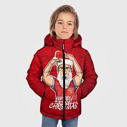 Куртка зимняя для мальчика Новогодний Дзюба Russia цвета 3D-черный — фото 2