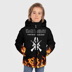 Детская зимняя куртка для мальчика с принтом Iron Maiden, цвет: 3D-черный, артикул: 10199664906063 — фото 2