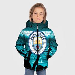 Детская зимняя куртка для мальчика с принтом Manchester City, цвет: 3D-черный, артикул: 10199738306063 — фото 2