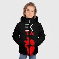 Куртка зимняя для мальчика ЕГОР КРИД TEAM цвета 3D-черный — фото 2