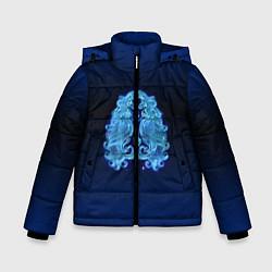 Куртка зимняя для мальчика Знаки Зодиака Дева цвета 3D-черный — фото 1