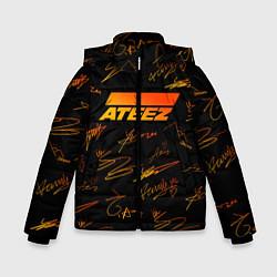 Куртка зимняя для мальчика ATEEZ АВТОГРАФЫ цвета 3D-черный — фото 1