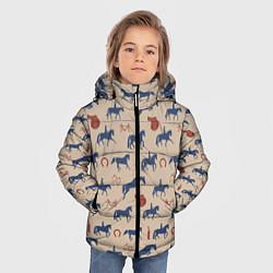 Куртка зимняя для мальчика Кони цвета 3D-черный — фото 2