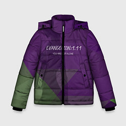Детская зимняя куртка для мальчика с принтом Evangelion: 111, цвет: 3D-черный, артикул: 10201116106063 — фото 1
