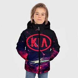 Куртка зимняя для мальчика КIA цвета 3D-черный — фото 2