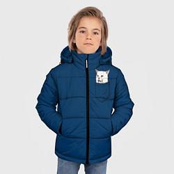 Куртка зимняя для мальчика СМАДЖ В КАРМАНЕ цвета 3D-черный — фото 2