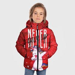 Куртка зимняя для мальчика Крутой единорог цвета 3D-черный — фото 2