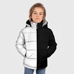 Куртка зимняя для мальчика ПРОСТО ЧЁРНО-БЕЛЫЙ цвета 3D-черный — фото 2