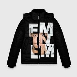 Куртка зимняя для мальчика Eminem цвета 3D-черный — фото 1
