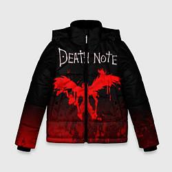 Куртка зимняя для мальчика ТЕТРАДЬ СМЕРТИ цвета 3D-черный — фото 1