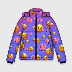 Куртка зимняя для мальчика Очень много эмодзи цвета 3D-черный — фото 1