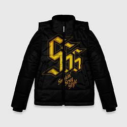Куртка зимняя для мальчика SSS Rank цвета 3D-черный — фото 1