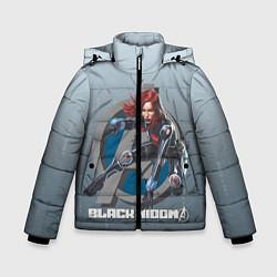 Куртка зимняя для мальчика Черная вдова цвета 3D-черный — фото 1