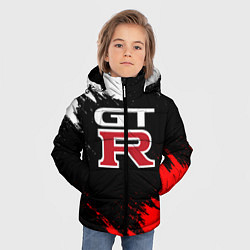 Куртка зимняя для мальчика NISSAN GTR цвета 3D-черный — фото 2