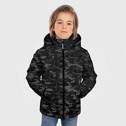 Куртка зимняя для мальчика ГОРОДСКОЙ КАМУФЛЯЖ цвета 3D-черный — фото 2