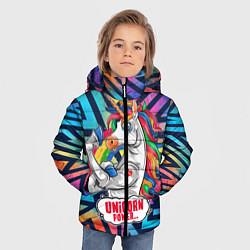 Куртка зимняя для мальчика Unicorn Power Единорог цвета 3D-черный — фото 2