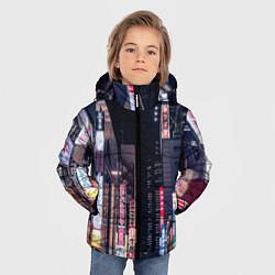 Куртка зимняя для мальчика Ночной Токио цвета 3D-черный — фото 2