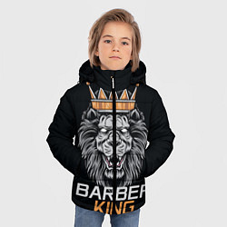 Куртка зимняя для мальчика Barber King Барбер Король цвета 3D-черный — фото 2