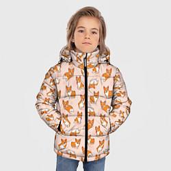 Куртка зимняя для мальчика Корги цвета 3D-черный — фото 2