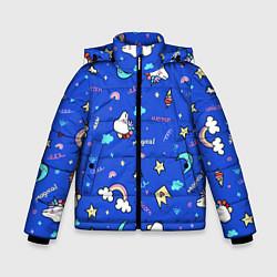 Куртка зимняя для мальчика Magical unicorn цвета 3D-черный — фото 1