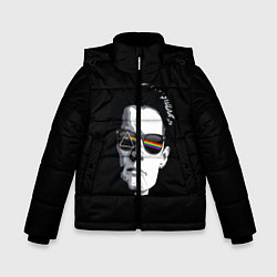Куртка зимняя для мальчика Twin Peaks цвета 3D-черный — фото 1