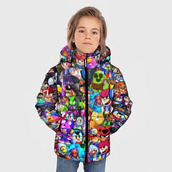 Куртка зимняя для мальчика BRAWL STATS ВСЕ ПЕРСОНАЖИ цвета 3D-черный — фото 2