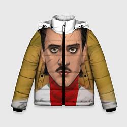 Куртка зимняя для мальчика Little Big: Banana Man цвета 3D-черный — фото 1