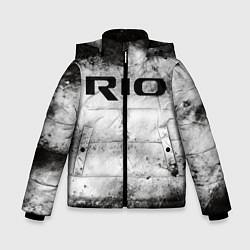 Детская зимняя куртка для мальчика с принтом KIA RIO, цвет: 3D-черный, артикул: 10211866506063 — фото 1