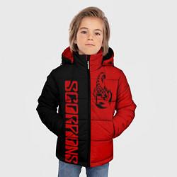 Детская зимняя куртка для мальчика с принтом SCORPIONS, цвет: 3D-черный, артикул: 10212831306063 — фото 2