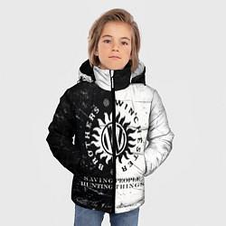 Куртка зимняя для мальчика Winchester Brothers цвета 3D-черный — фото 2