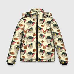 Куртка зимняя для мальчика Tom: Pattern цвета 3D-черный — фото 1