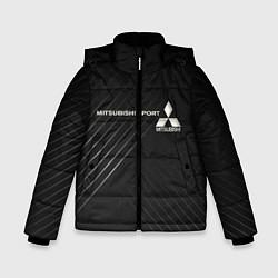 Куртка зимняя для мальчика MITSUBISHI цвета 3D-черный — фото 1