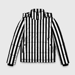 Куртка зимняя для мальчика Пикси полосы цвета 3D-черный — фото 1