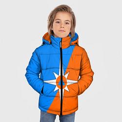 Куртка зимняя для мальчика МЧС России цвета 3D-черный — фото 2