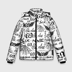 Куртка зимняя для мальчика 6IX9INE ТАТУИРОВКИ цвета 3D-черный — фото 1