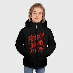 Куртка зимняя для мальчика Freedom цвета 3D-черный — фото 2