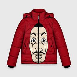Куртка зимняя для мальчика Бумажный Дом цвета 3D-черный — фото 1