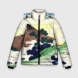 Куртка зимняя для мальчика ЯПОНИЯ цвета 3D-черный — фото 1