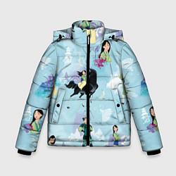 Куртка зимняя для мальчика Mulan Pattern цвета 3D-черный — фото 1