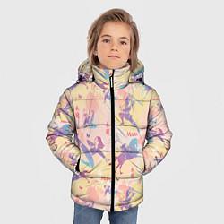 Куртка зимняя для мальчика Fa Ping Pattern цвета 3D-черный — фото 2