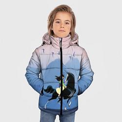 Куртка зимняя для мальчика Mulan in the mountains цвета 3D-черный — фото 2