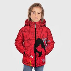 Куртка зимняя для мальчика Mulan on Mushu Patten цвета 3D-черный — фото 2