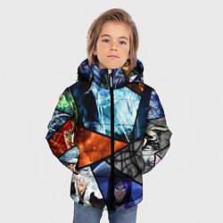 Куртка зимняя для мальчика ANIME цвета 3D-черный — фото 2