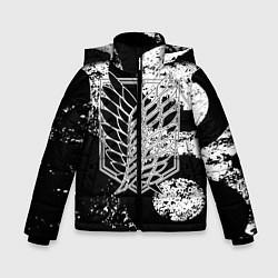 Куртка зимняя для мальчика Attack on titan цвета 3D-черный — фото 1