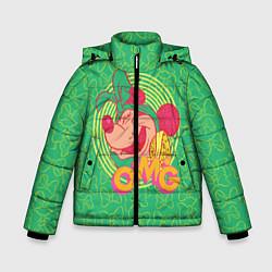 Детская зимняя куртка для мальчика с принтом Minnie Mouse OMG, цвет: 3D-черный, артикул: 10250079106063 — фото 1