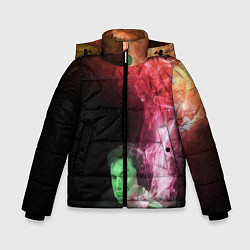 Куртка зимняя для мальчика ПРИШЕЛЕЦ цвета 3D-черный — фото 1