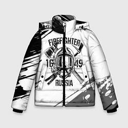 Куртка зимняя для мальчика FIREFIGHTER 1649 RUSSIA цвета 3D-черный — фото 1