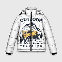 Куртка зимняя для мальчика Путешественник Z цвета 3D-черный — фото 1