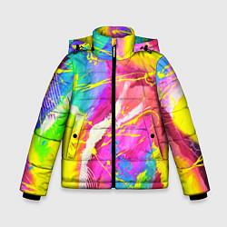 Детская зимняя куртка для мальчика с принтом ТИ-ДАЙ, цвет: 3D-черный, артикул: 10254980506063 — фото 1