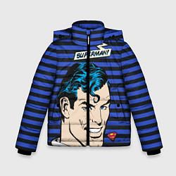Куртка зимняя для мальчика Superman! цвета 3D-черный — фото 1